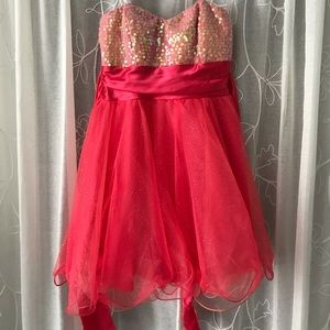 Sparkly Pink Prom/ Homecoming Dress